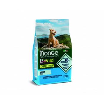 Monge / Монж Dog BWild GRAIN FREE Mini беззерновой корм из анчоуса с картофелем и горохом для взрослых собак мелких пород 2,5кг
