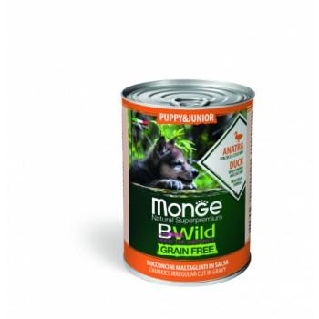 Monge / Монж Dog BWild Grainfree PUPPY/JUNIOR консервы из утки с тыквой и кабачками для щенков 400г