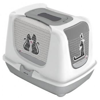 Moderna / Модерна Туалет-домик с угольным фильтром Trendy Cat - Райский сад, 50x39.5x37.5 (Eden)