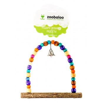ZooBaloo Игрушка для птиц качели Африка для средних птиц L: 18х15 см