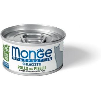 Monge / Монж Cat Monoprotein мясные хлопья для кошек из курицы с горошком 80г