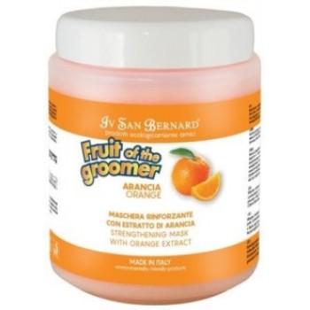 Iv San Bernard / Ив Сан Бернард Fruit of the Grommer Orange Восстанавливающая маска для слабой выпадающей шерсти с силиконом 1 л