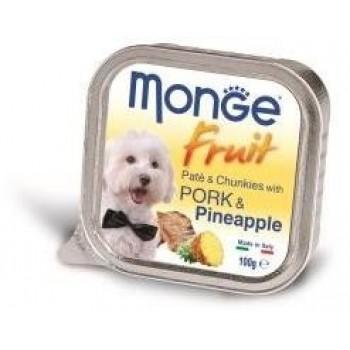 Monge / Монж Dog Fruit консервы для собак свинина с ананасом 100г