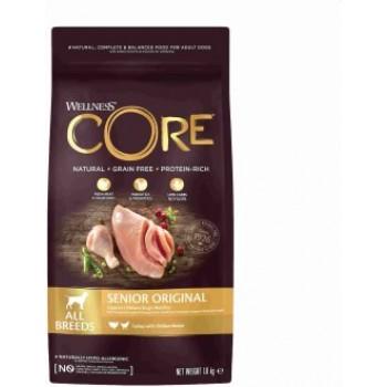 Wellness Core / Вилнес Кор корм из индейки с курицей для пожилых собак всех пород 1,8 кг