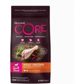 Wellness Core / Вилнес Кор корм из индейки с курицей для взрослых собак мелких пород 1,5 кг