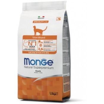 Monge / Монж Cat Monoprotein Sterilised Duck корм для стерилизованных кошек с уткой 1,5 кг