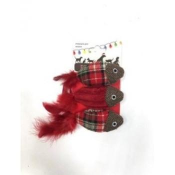 Petpark / Петпарк игрушка для кошек Christmas Рыбки (3 шт.)