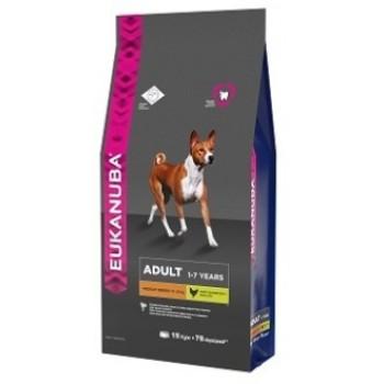 Eukanuba / Екануба Dog корм для взрослых собак средних пород 15 кг