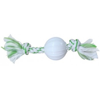 CanineClean / Канин Клин игрушка для собак Канат 25 см с нейлоновым мячом с ароматом мяты