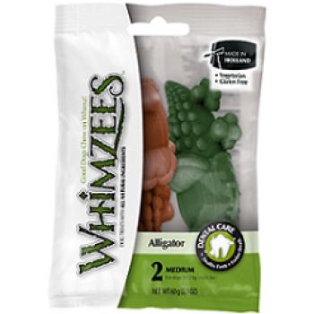 Whimzees / Вимзис дентальное лакомство Крокодильчик для собак М 9 см 2 шт в блистере