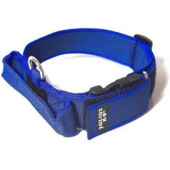 Julius-K9 / Юлиус-К9 ошейник для собак Color & Gray (38-53см/4см), с закрытой ручкой, сине-серый