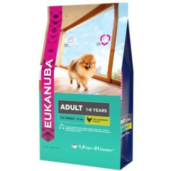 Eukanuba / Екануба Dog корм для взрослых собак миниатюрных пород 1,5 кг