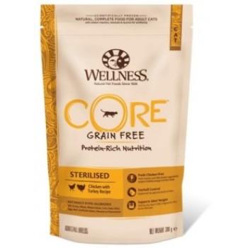 Wellness Core / Вилнес Кор корм из курицы с индейкой для стерилизованных кошек и кастрированных котов 300 гр