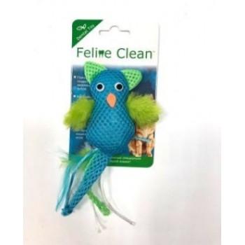 Feline Clean / Фелин Клин игрушка для кошек Dental Сова, хвост с перьями