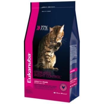 Eukanuba / Екануба Cat корм для взрослых кошек с избыточным весом и стерилизованных 1,5 кг