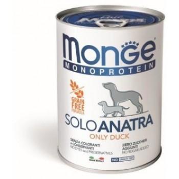Monge / Монж Dog Monoprotein Solo консервы для собак паштет из утки 400г