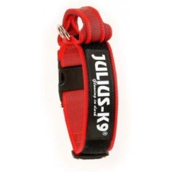 Julius-K9 / Юлиус-К9 ошейник для собак Color & Gray (38-53см/4см), с закрытой ручкой, красно-серый