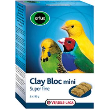 Versele-Laga минеральный блок для мелких птиц Orlux Clay Bloc mini с глиной 3х180 г