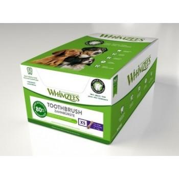 Whimzees / Вимзис дентальное лакомство Зубная щетка для собак XS 7 см 350 шт в дисплее