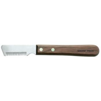 Show Tech тримминговочный нож 3300 с деревянной ручкой для мягкой шерсти