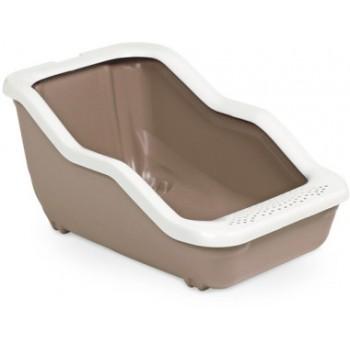 MPS / МПС Туалет-лоток NETTA Open 54х39х29h см с рамкой голубой/коричневый/салатовый