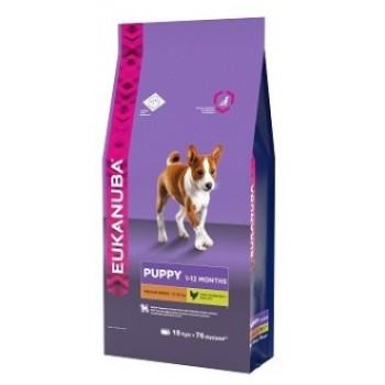 Eukanuba / Екануба Dog корм для щенков средних пород 15 кг