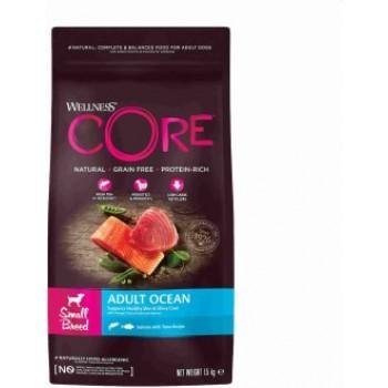 Wellness Core / Вилнес Кор корм из лосося с тунцом для взрослых собак мелких пород 1,5 кг
