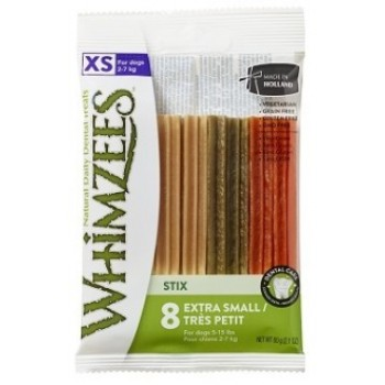 Whimzees / Вимзис дентальное лакомство Зубная палочка для собак XS 8 см 8 шт в блистере