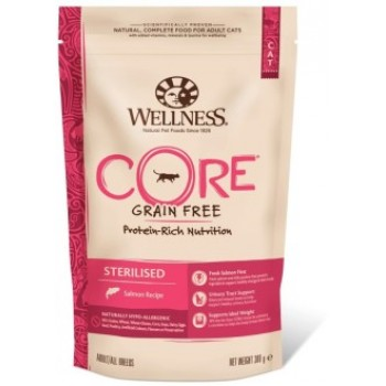 Wellness Core / Вилнес Кор корм из лосося для стерилизованных кошек и кастрированных котов 300 гр