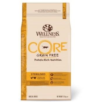Wellness Core / Вилнес Кор корм из курицы с индейкой для стерилизованных кошек и кастрированных котов 1,75 кг