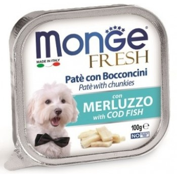 Monge / Монж Dog Fresh консервы для собак треска 100г