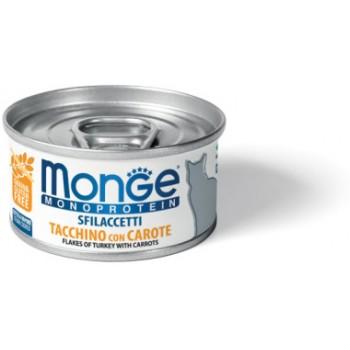 Monge / Монж Cat Monoprotein мясные хлопья для кошек из индейки с морковью 80г