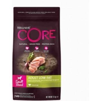 Wellness Core / Вилнес Кор корм со сниженным содержанием жира из индейки с курицей для взрослых собак мелких пород 1,5 кг