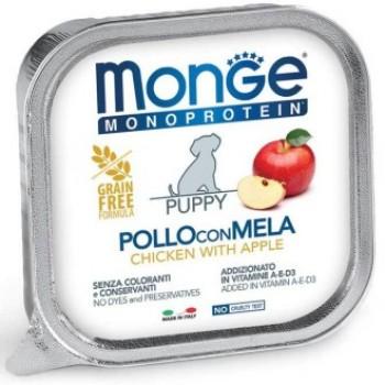 Monge / Монж Dog Monoprotein Fruits консервы для щенков паштет из курицы с яблоком 150г