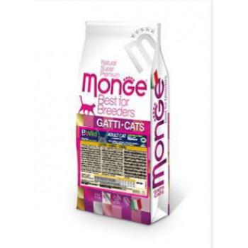 Monge / Монж BWild Cat Hare корм для взрослых кошек с мясом зайца 10 кг