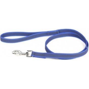 Julius-K9 / Юлиус-К9 поводок для собак Color & Gray Super-grip 2/120см, с ручкой, до 50 кг, сине-серый