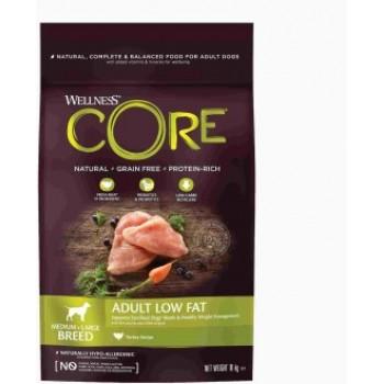 Wellness Core / Вилнес Кор корм со сниженным содержанием жира из индейки для взрослых собак средних и крупных пород 10 кг