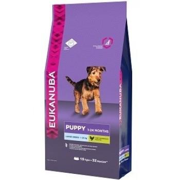 Eukanuba / Екануба Dog корм для щенков крупных пород 15 кг