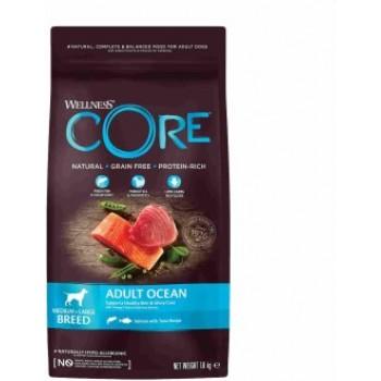Wellness Core / Вилнес Кор корм из лосося с тунцом для взрослых собак средних и крупных пород 1,8 кг