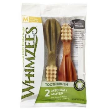 Whimzees / Вимзис дентальное лакомство Зубная щетка для собак М 11 см 2 шт в блистере