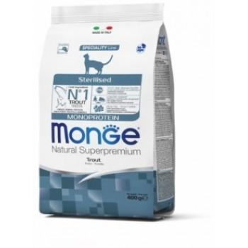 Monge / Монж Cat Monoprotein Sterilised Trout корм для стерилизованных кошек с форелью 400г