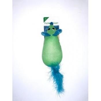 Feline Clean / Фелин Клин игрушка для кошек Dental Мышка, хвост с перьями