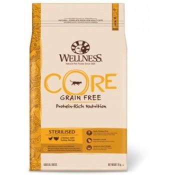 Wellness Core / Вилнес Кор корм из курицы с индейкой для стерилизованных кошек и кастрированных котов 10 кг