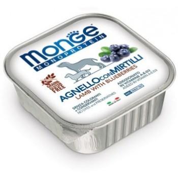 Monge / Монж Dog Monoprotein Fruits консервы для собак паштет из ягненка с черникой 150г