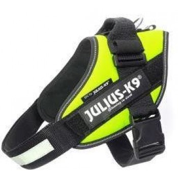 Julius-K9 / Юлиус-К9 шлейка для собак IDC®-Powerharness 0 (58-76см/ 14-25кг), зеленый неон