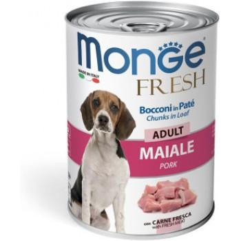 Monge / Монж Dog Fresh Chunks in Loaf консервы для собак мясной рулет свинина 400г