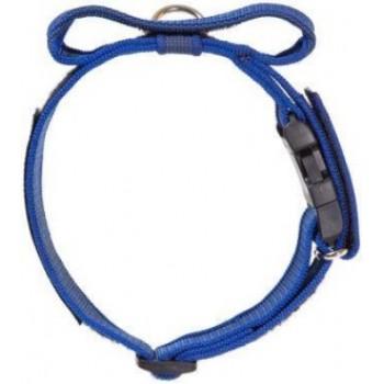 Julius-K9 / Юлиус-К9 ошейник для собак Color & Gray (47-67см/5см), закрытая ручка + скрытый локер, синий