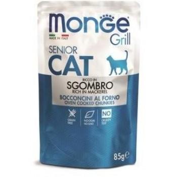 Monge / Монж Cat Grill Pouch паучи для пожилых кошек эквадорская макрель 85г