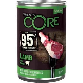 Wellness Core / Вилнес Кор 95 консервы из ягненка с тыквой для взрослых собак 400 гр
