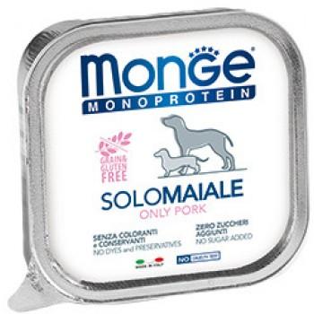 Monge / Монж Dog Monoprotein Solo консервы для собак паштет из свинины 400г